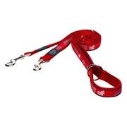 "Rogz - Поводок-перестежка ""Красные косточки"" (размер XL - ширина 2,5 см, длина 1,0-1,3-1,8 м) FANCY DRESS MULTI PURPOSE LEAD"
