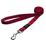 Rogz - Поводок, красный (размер S - ширина 1,1 см, длина 1,8 м) ALPINIST FIXED LEAD