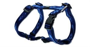 Rogz - Шлейка, темно-синий (размер S (23-37 см), ширина 1,1 см) ALPINIST H-HARNESS