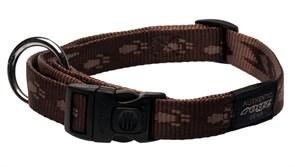 Rogz - Ошейник, шоколадный (размер M (26-40 см), ширина 1,6 см) ALPINIST SIDE RELEASE COLLAR