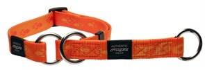 Rogz - Полуудавка строгая, оранжевый (размер M (31-45 см), ширина 1,6 см) ALPINIST WEB HALF CHECK COLLAR