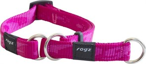 Rogz - Полуудавка строгая, розовый (размер M (31-45 см), ширина 1,6 см) ALPINIST WEB HALF CHECK COLLAR