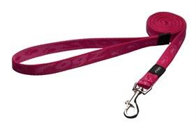 Rogz - Удлиненный поводок, розовый (размер М - ширина 1,6 см, длина 1,8 м) ALPINIST FIXED LONG LEAD