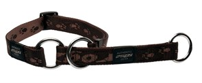 Rogz - Полуудавка строгая, шоколадный (размер L (34-56 см), ширина 2 см) ALPINIST WEB HALF CHECK COLLAR