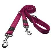 Rogz - Поводок-перестежка, розовый (размер L - ширина 2 см, длина 1,0-1,3-1,6 м) ALPINIST MULTI PURPOSE LEAD