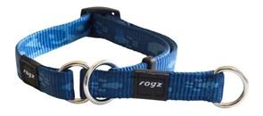 Rogz - Полуудавка строгая, темно-синий (размер XL (50-70 см), ширина 2,5 см) ALPINIST WEB HALF CHECK COLLAR