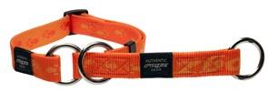 Rogz - Полуудавка строгая, оранжевый (размер XL (50-70 см), ширина 2,5 см) ALPINIST WEB HALF CHECK COLLAR