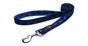 Rogz - Поводок, темно-синий (размер XL - ширина 2,5 см, длина 1,2 м) ALPINIST FIXED LEAD