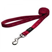 Rogz - Поводок, красный (размер XL - ширина 2,5 см, длина 1,2 м) ALPINIST FIXED LEAD