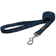 Rogz - Удлиненный поводок, темно-синий (размер XL - ширина 2,5 см, длина 1,8 м) ALPINIST FIXED LONG LEAD