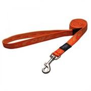 Rogz - Удлиненный поводок, оранжевый (размер XL - ширина 2,5 см, длина 1,8 м) ALPINIST FIXED LONG LEAD
