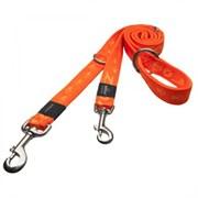 Rogz - Поводок-перестежка, оранжевый (размер XL - ширина 2,5 см, длина 1,0-1,3-1,6 м) ALPINIST MULTI PURPOSE LEAD