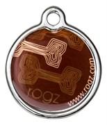 """Rogz - Адресник металлический малый """"Кофейные косточки"""" METAL ID TAG SMALL"""
