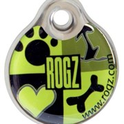"Rogz - Адресник металлический малый ""Лаймовый сок"" METAL ID TAG SMALL"