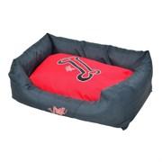 """Rogz - Лежак с бортиком и двусторонней подушкой """"Красные косточки"""", малый (56x35x22 см) SPICE WALL BED SMALL"""