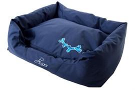 """Rogz - Лежак с бортиком и двусторонней подушкой """"Морской"""", средний (72x45x25 см) SPICE POD NAVY ZEN"""