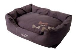 """Rogz - Лежак с бортиком и двусторонней подушкой """"Кофейные косточки"""", большой (88x55x26 см) SPICE POD MOCHA BONE"""