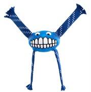 Rogz - Игрушка с принтом зубы и пищалкой большая (синий) FLOSSY GRINZ ORALCARE TOY