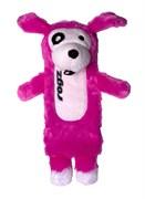 Rogz - Мягкая игрушка с карманом для пластиковой бутылки, большая (розовый) THINZ LARGE PLUSH TOY