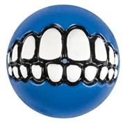 Rogz - Мяч с принтом зубы и отверстием для лакомств, малый (синий) GRINZ BALL SMALL
