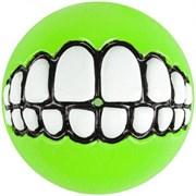 Rogz - Мяч с принтом зубы и отверстием для лакомств, большой (лайм) GRINZ BALL LARGE