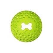 Rogz - Мяч из литой резины с отверстием для лакомств, большой (лайм) GUMZ BALL LARGE