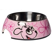 Rogz - Миска для щенков 2 в 1 (розовый) 350 мл BUBBLE BOWLZ MEDIUM
