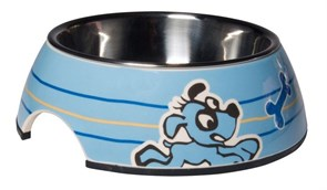 Rogz - Миска для щенков 2 в 1 (голубой) 350 мл BUBBLE BOWLZ MEDIUM