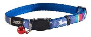 """Rogz - Ошейник с застежкой для кошек """"Голубые леденцы"""" (ширина - 1,1 см, размер - 20-31 см) NEOCAT SAFELOC COLLAR"""