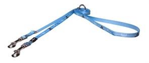 Rogz - Поводок-перестежка поводок для щенков, голубой (размер XS - ширина 8 мм, длина 1,1-1,4-1,8 м) MULTI PURPOSE LEAD