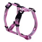 Rogz - Светоотражающая шлейка для щенков, розовый (размер XS (22-34 см), ширина 8 мм) H-HARNESS