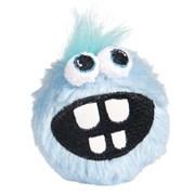 Rogz - Плюшевый мяч для щенков с принтом зубы, малый (голубой) PUPZ SMALL GRINZ PLUSH