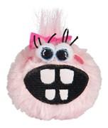 Rogz - Плюшевый мяч для щенков с принтом зубы, малый (розовый) PUPZ SMALL GRINZ PLUSH