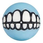 Rogz - Мяч для щенков с принтом зубы и отверстием для лакомств, малый (голубой) PUPZ GRINZ BALL SMALL