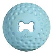 Rogz - Мяч для щенков из литой резины с отверстием для лакомств, малый (голубой) PUPZ GUMZ BALL SMALL