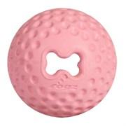 Rogz - Мяч для щенков из литой резины с отверстием для лакомств, малый (розовый) PUPZ GUMZ BALL SMALL