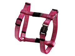 "Rogz - Шлейка для собак малых пород ""Розовые косточки"" (размер XS (22-34 см), ширина 8 мм) H-HARNESS"
