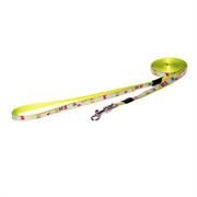 """Rogz - Удлиненный поводок для собак малых пород """"Разноцветные косточки"""" (размер S - ширина 12 мм, длина 1,8 м) FIXED LONG LEAD"""