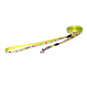 """Rogz - Удлиненный поводок для собак малых пород """"Разноцветные косточки"""" (размер M - ширина 16 мм, длина 1,8 м) FIXED LONG LEAD"""