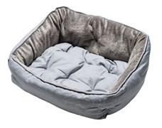 """Rogz - Мягкий лежак с двусторонней подушкой """"Серая косточка"""", размер S (52х38х25см) LUNA PODZ"""