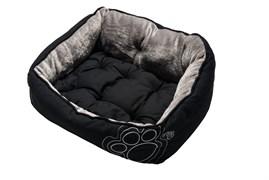 """Rogz - Мягкий лежак с двусторонней подушкой """"Черная лапка"""", размер S (52х38х25см) LUNA PODZ"""
