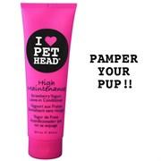 """Pet Head - Кондиционер несмываемый """"Телезвезда"""" для собак (клубнично-йогуртовый), без сульфатов и парабенов"""