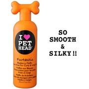 """Pet Head - Крем-ополаскиватель """"Пушистик"""" для длинной шерсти собак с овсянкой, экстрактами кактуса и календулы (черничный), без сульфатов и парабенов"""