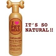 """Pet Head - Шампунь для собак """"100% натуральный"""" с маслом овсянки, жожоба, без сульфатов и парабенов"""