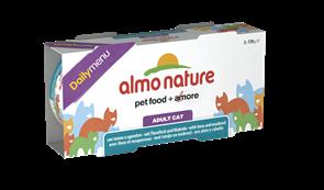"""Almo Nature - Консервы для кошек """"Меню с Тунцом и Макрелью"""" (Набор 2 шт. по 170 г) Daily Menu Cat Tuna and Mackerel"""
