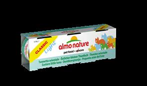 Almo Nature - Низкокалорийные консервы для кошек (c Пятнистым Индо-Тихоокеанским Тунцом) Набор 3 шт. по 50 г Classic Light Cat Eastern Little Tuna