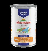 Almo Nature - Консервы для собак с чувствительным пищеварением (с Курицей) Single Protein Chicken
