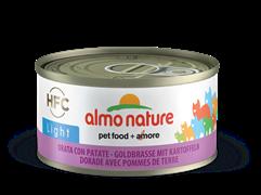 """Almo Nature - Низкокалорийные консервы для кошек """"Морской лещ с картофелем"""" HFC Light Adult Cat Sea Bream with Potatoes"""
