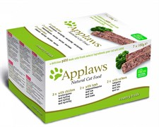 "Applaws - Набор для кошек ""Курица, Ягненок, Лосось"" (7 шт*100 г) Cat Pate MP Chicken, Lamb and Salmon"