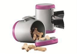 Flexi - Коробка для лакомств или одноразовых пакетов (розовая) Vario Multi Box pink